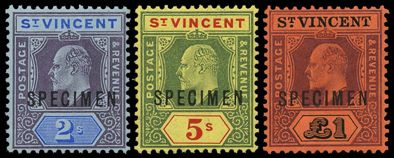 ST VINCENT 1904  SG91s/3s Specimen
