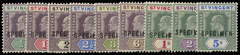 ST VINCENT 1902  SG76s/84s Specimen