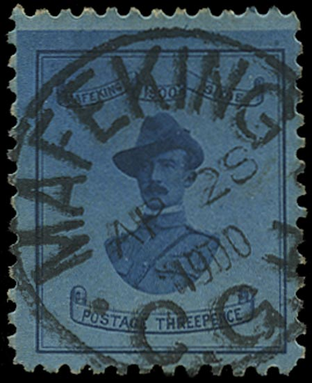 C.G.H. - MAFEKING 1900  SG20 Used 3d deep blue on blue Baden-Powell