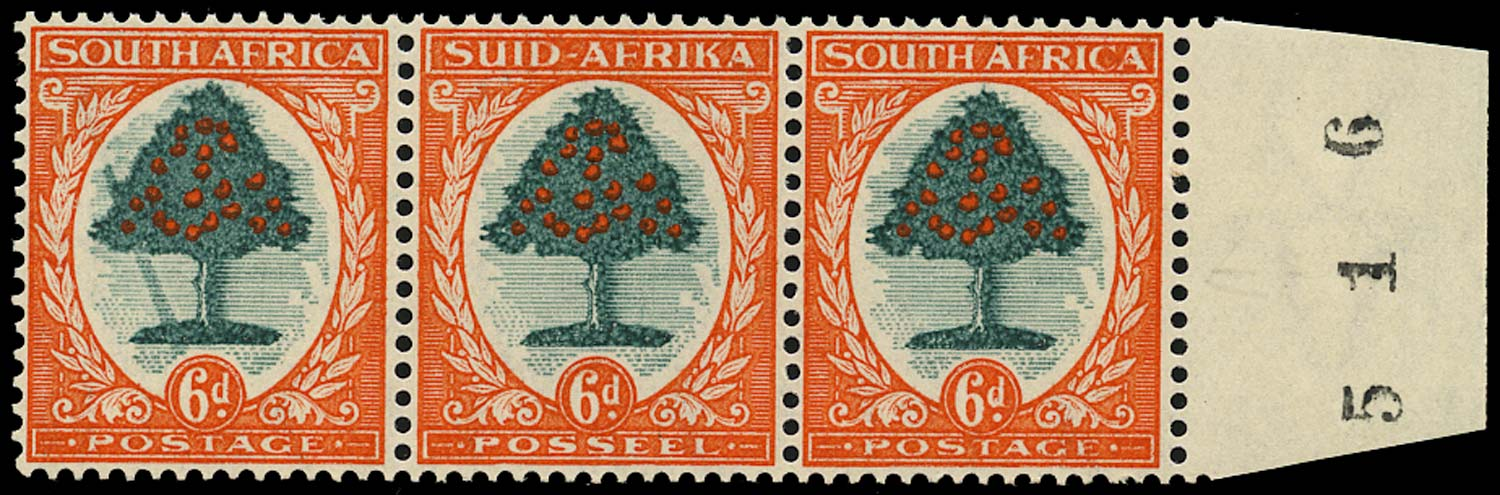SOUTH AFRICA 1933  SG61a Mint 6d variety Falling Ladder unmounted