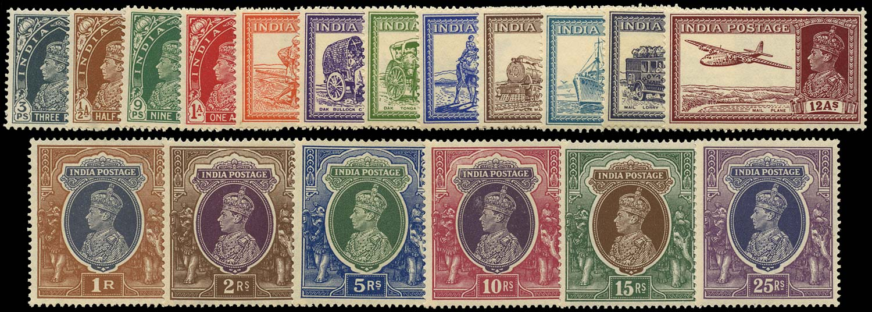 INDIA 1937  SG247/64 Mint