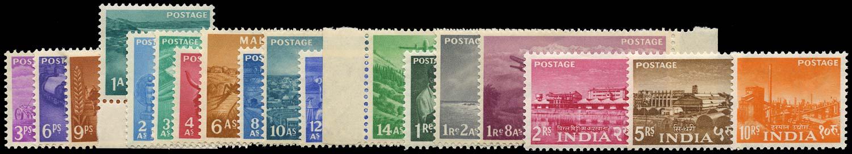 INDIA 1955  SG354/71 Mint