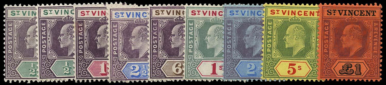 ST VINCENT 1904  SG85/93 Mint