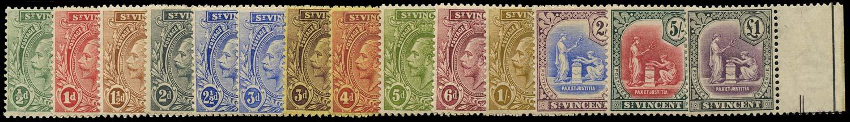 ST VINCENT 1921  SG131/41 Mint