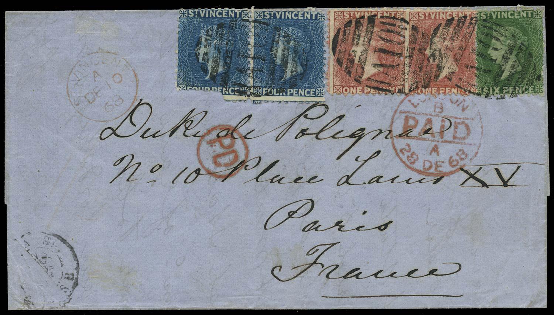 ST VINCENT 1868  SG5/7 Cover