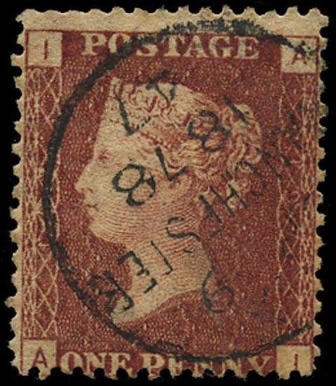 GB 1877  SG43 Pl.197 Used Manchester cds