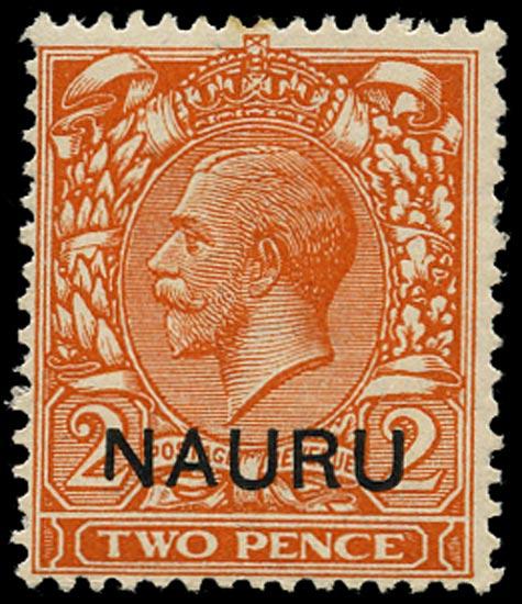 NAURU 1916  SG5var Mint