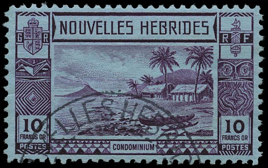 NEW HEBRIDES FRENCH 1938  SGF64 Used