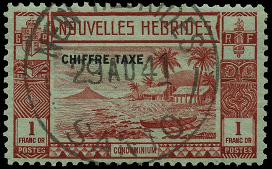 NEW HEBRIDES FRENCH 1938  SGFD69 Postage Due