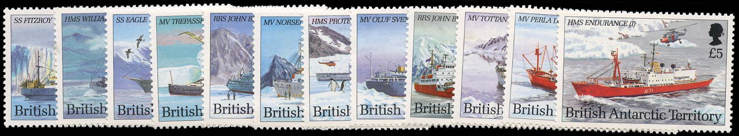 B.A.T. 1993  SG218/29 Mint unmounted Antarctic Ships set of 12