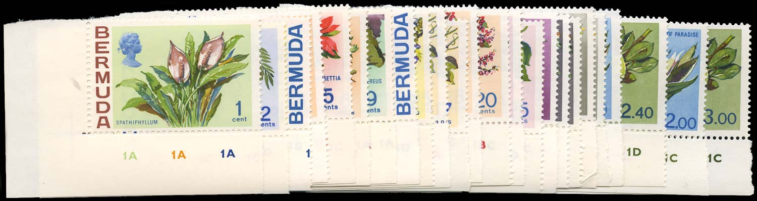 BERMUDA 1970  SG249/65a Mint unmounted Flowers set of 24 to $3