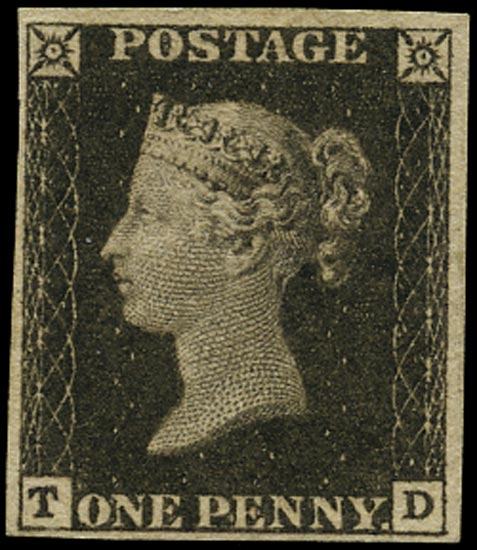 GB 1840  SG2 Pl.1a Penny Black Unused o.g. example