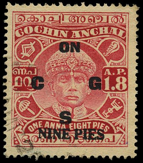 I.F.S. COCHIN 1943  SGO59 Official