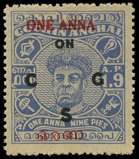 I.F.S. COCHIN 1949  SGO101 Official