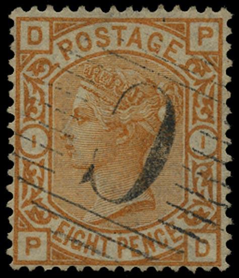 BRITISH LEVANT 1876  SGZ108 Cancel