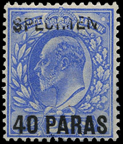 BRITISH LEVANT 1902  SG8 Specimen