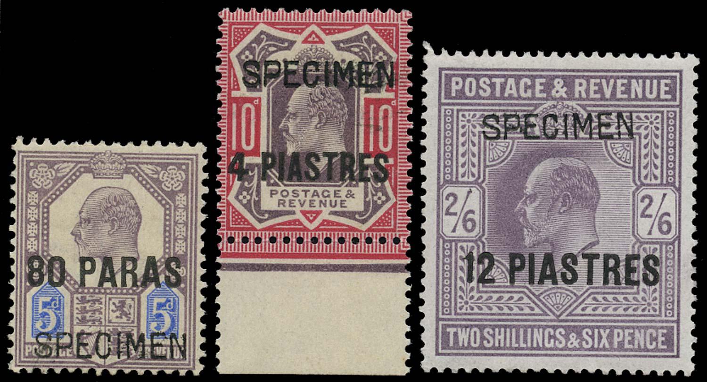 BRITISH LEVANT 1902  SG9/11 Specimen