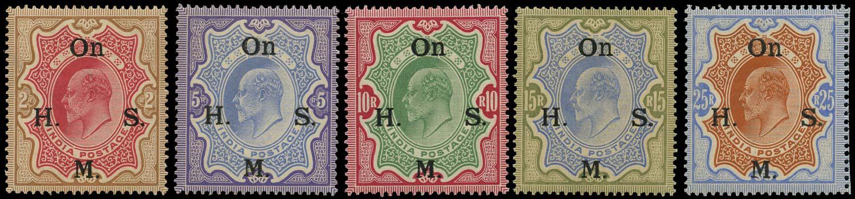 INDIA 1909  SGO68/72 Official