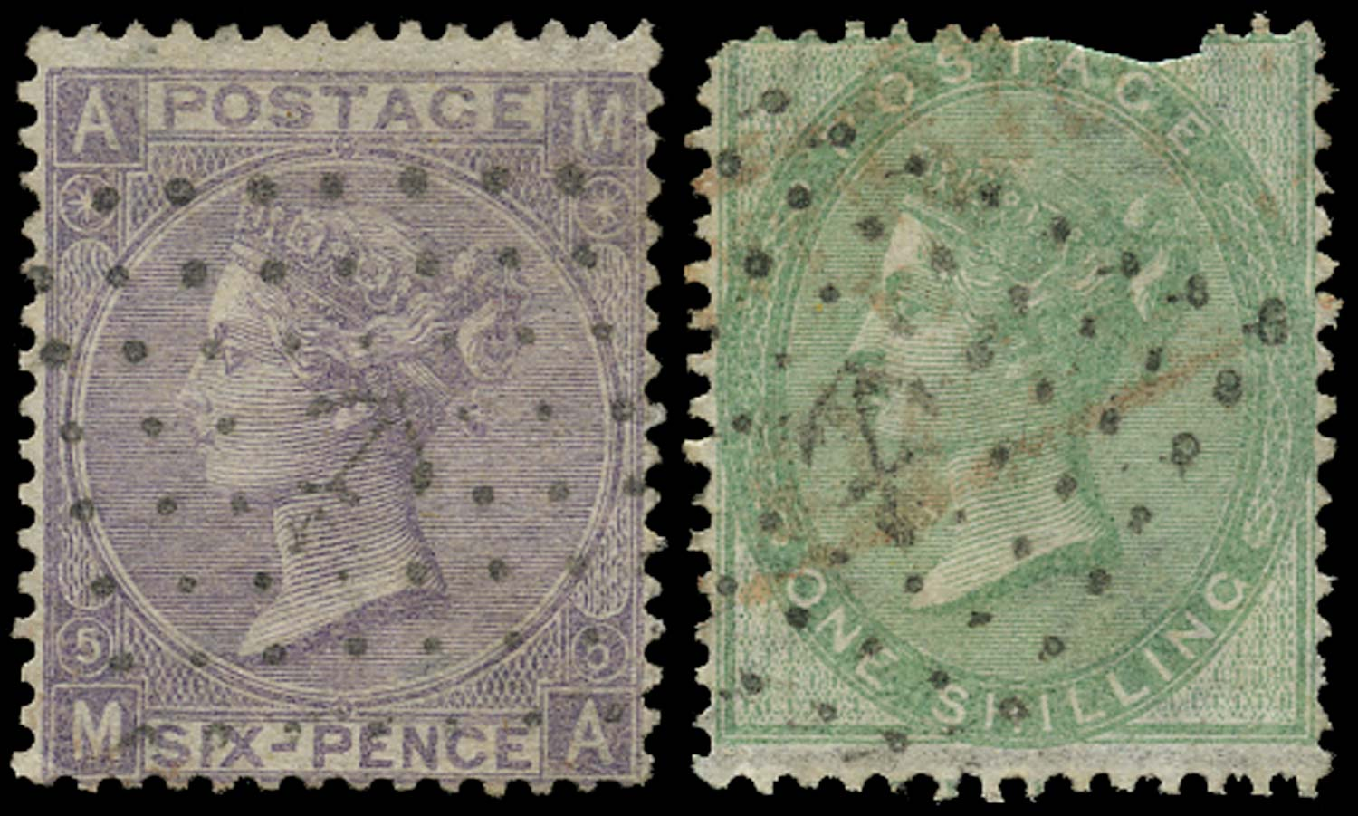 GB 1865  SG97 Pl.5 Used French
