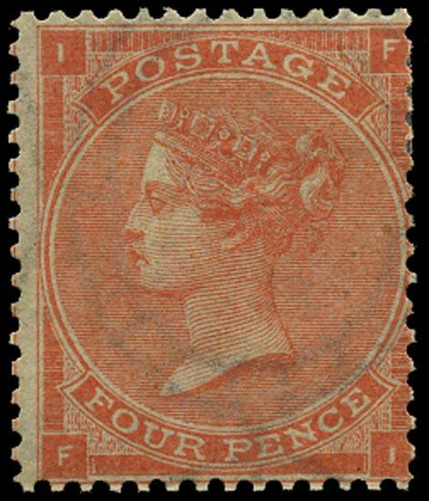 GB 1862  SG80 Pl.1 Used Unused o.g. example