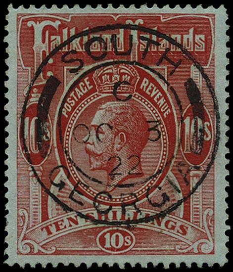 FALKLAND ISLAND DEPS 1912  SGZ30 Cancel South Georgia SG1 cds