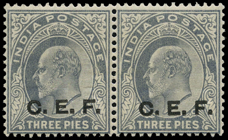 INDIA CEF 1905  SGC12a Mint