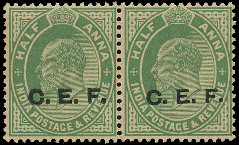 INDIA CEF 1908  SGC21a Mint