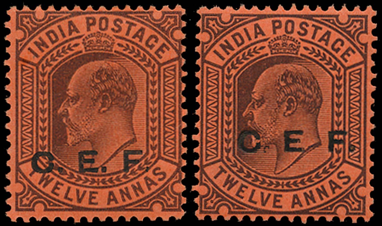 INDIA CEF 1905  SGC19var Mint