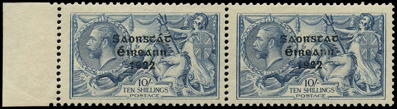 IRELAND 1922  SG66a Mint 10s dull grey-blue varity No accent
