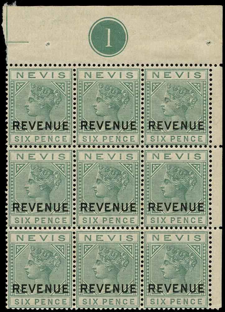 NEVIS 1882  SGF8 Postal Fiscal