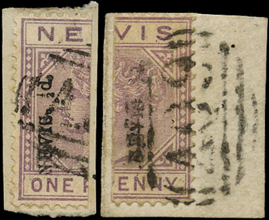 NEVIS 1883  SG36 Used