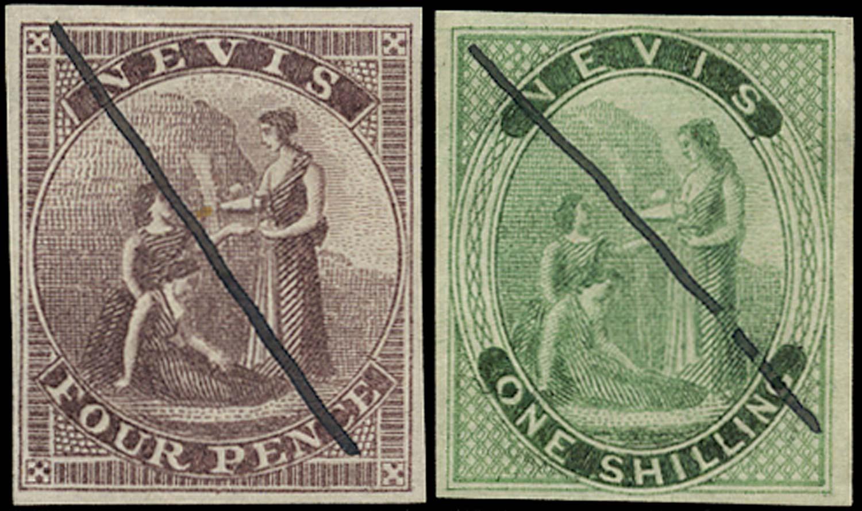 NEVIS 1862  SG2, 4 Proof