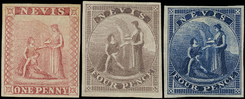 NEVIS 1862  SG1/2 Proof