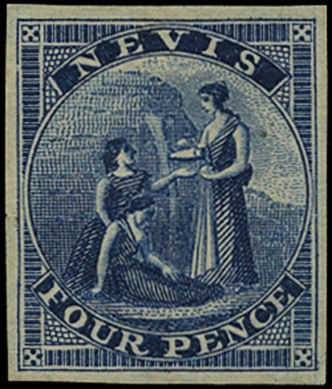 NEVIS 1862  SG2 Proof