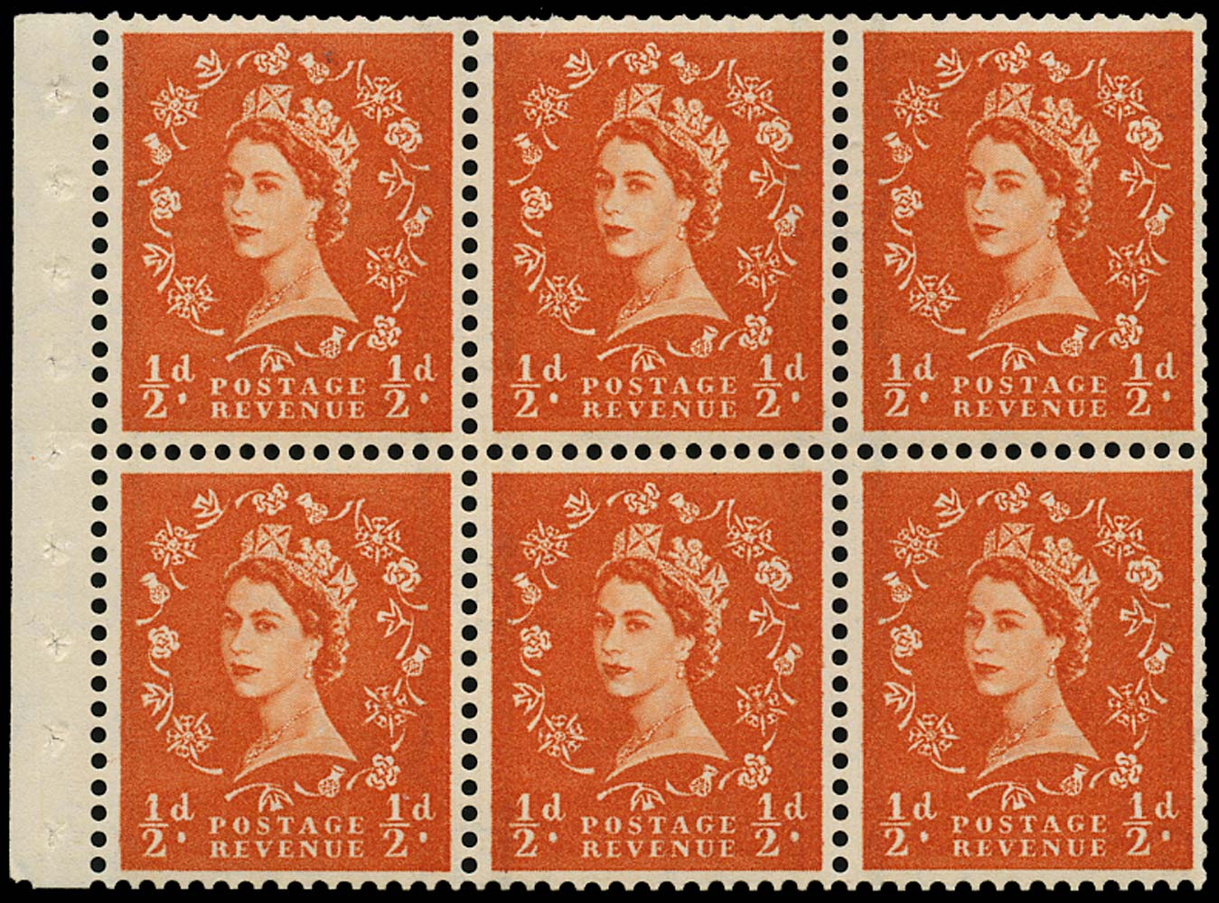 GB 1959  SG587l Booklet pane booklet pane of six