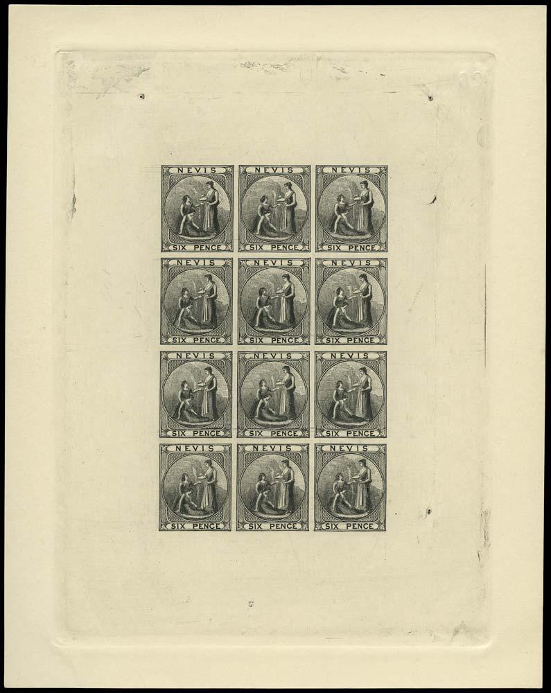 NEVIS 1931  SG1/4 Reprint