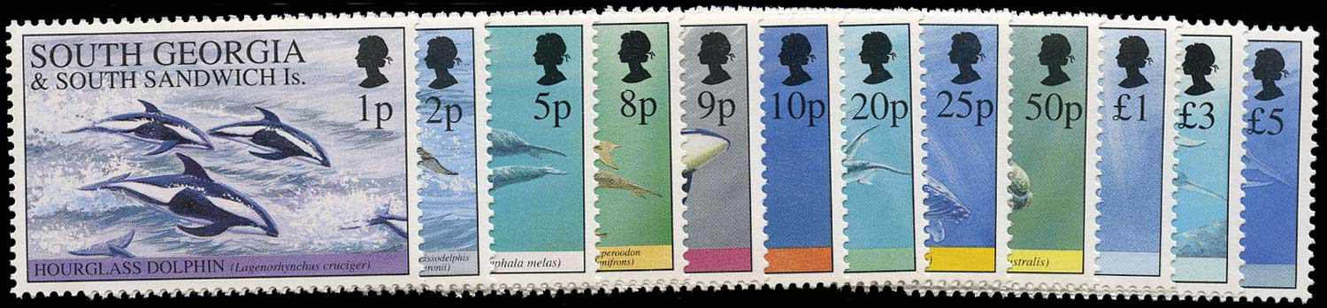 FALKLAND ISLAND DEPS 1994  SG231/42 Mint unmounted Whales and Dolphins set of 12 to £5
