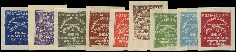 I.F.S. CHARKHARI 1930  SG31, 33/5, 37, 39/40, 42, 44 Mint