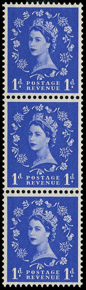 GB 1957  SG562b Mint stop omitted variety