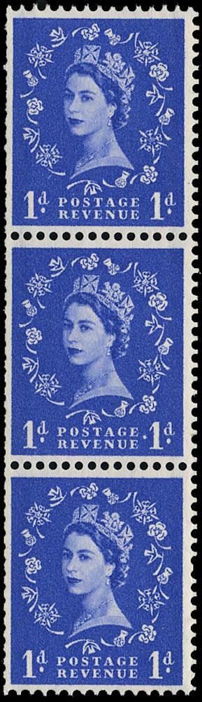 GB 1957  SG562a Mint extra stop variety