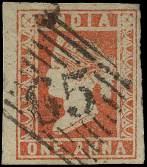 INDIA 1854  SG14 Cancel
