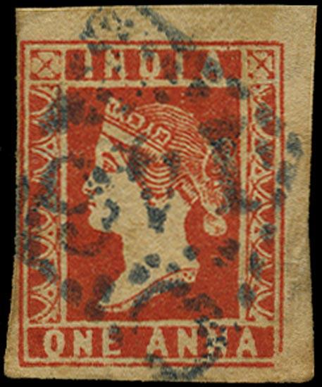 INDIA 1854  SG15 Cancel