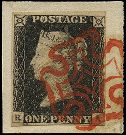 GB 1840  SG2 Pl.3 Penny Black