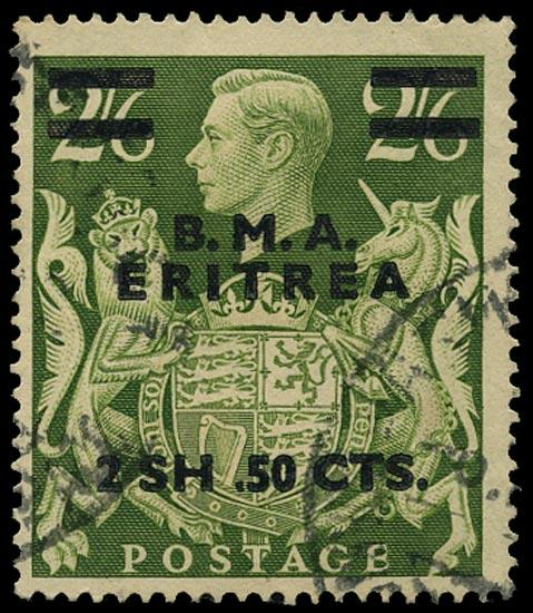 B.O.I.C. ERITREA 1948  SGE10a Used