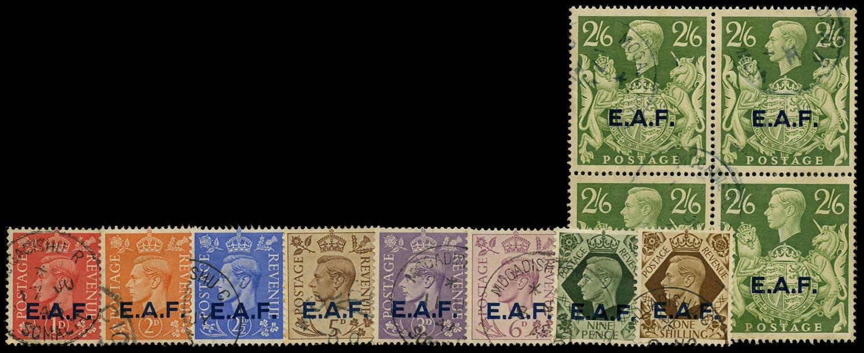 B.O.I.C. SOMALIA 1943-6  SGS1/9 Used