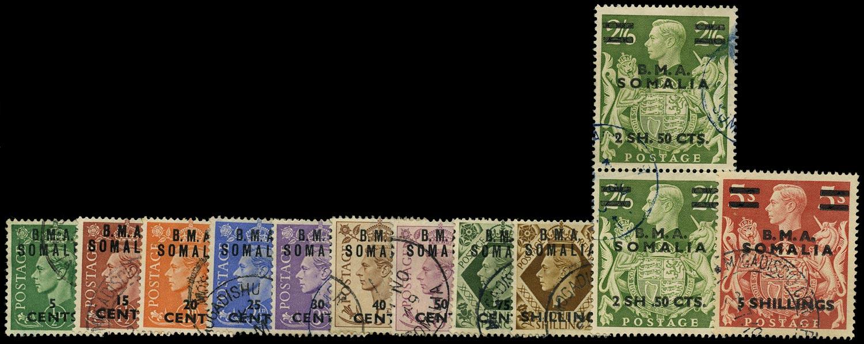 B.O.I.C. SOMALIA 1948  SGS10/20, 19a Used