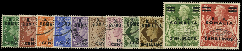 B.O.I.C. SOMALIA 1950  SGS21/31 Used