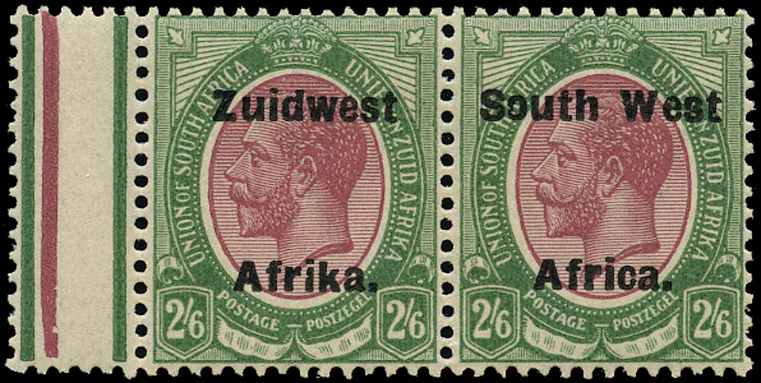 SOUTH WEST AFRICA 1923  SG37 var Mint 2s6d purple and green from setting IV with Missing Jubilee line
