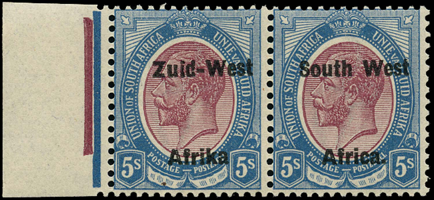 SOUTH WEST AFRICA 1923  SG13a Mint unmounted 5s overprint setting II variety Afrika without stop