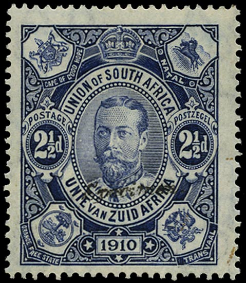 SOUTH AFRICA 1910  SG1s Specimen Union Parliament 2½d deep blue unmounted